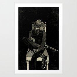 Gunslinger. Art Print