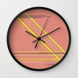 Electric stripes Wall Clock