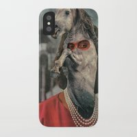 helen iPhone & iPod Cases featuring Horsehead Helen  by Computarded