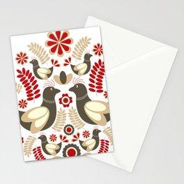Scandinavian Folk Pattern Stationery Cards
