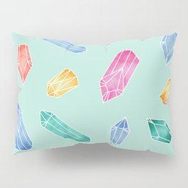 Crystals pattern - Light Green Pillow Sham