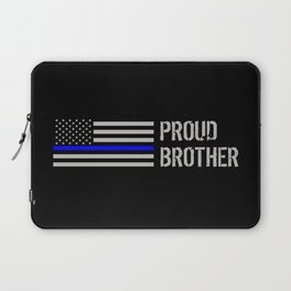 Police: Proud Brother (Thin Blue Line) Laptop Sleeve