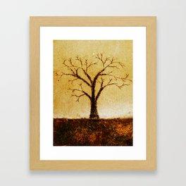 charcoal tree Framed Art Print