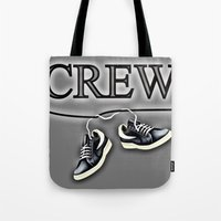 animal crew Tote Bags featuring Crew by Cs025