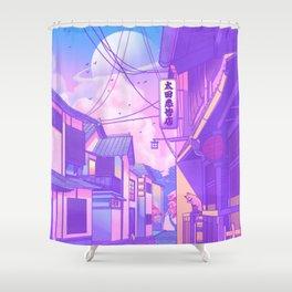 City Pop Kyoto Shower Curtain