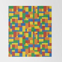 Colored Building Blocks Throw Blanket