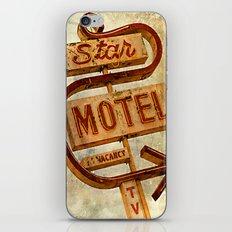 Vintage Grunge Motel Sign iPhone & iPod Skin