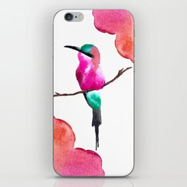 Carmine Bee eater iPhone Skin