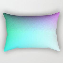 Six Color Ombre Cyan, Purple, Green, Pink, Purple, Blue, Spectrum Flame Rectangular Pillow