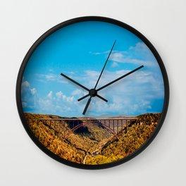 New River Gorge Bridge West Virginia Wall Clock