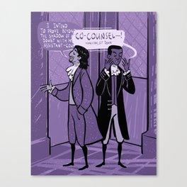 First Murder Trial Canvas Print