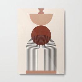 Minimal Geometric Shapes 151 Metal Print