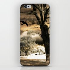 Surreal Gothic Infrared Raven Tree Landscape Nature iPhone & iPod Skin