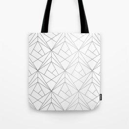 Geometric Silver Pattern Tote Bag