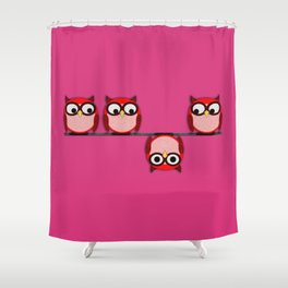 Another perspective for the owl Shower Curtain