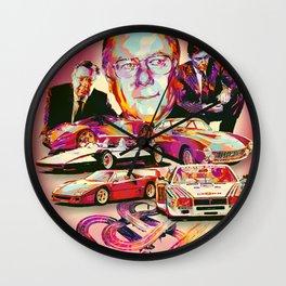 SERGIO PININFARINA: DESIGN HEROES Wall Clock