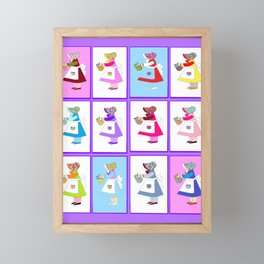 Grandma's Quilt of the Dutch Girl Framed Mini Art Print