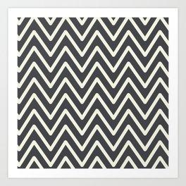 Chevron Wave Asphalt Art Print