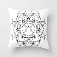 matisse Throw Pillows featuring Para Matisse/ To Matisse by Luiza T. Vesey