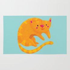Orange cat Rug