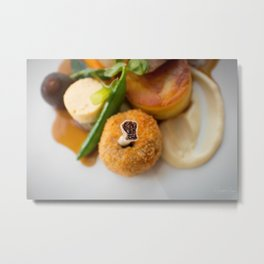The Art of Food Bone In Metal Print