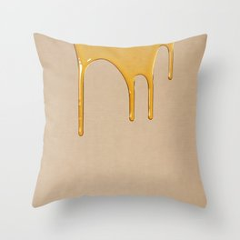 Honey on Linen No.1 Throw Pillow