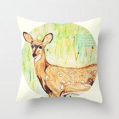 As A Deer Throw Pillow