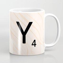 Scrabble Letter Y - Scrabble Art and Apparel Coffee Mug