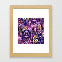 Tribal Patchwork Framed Art Print