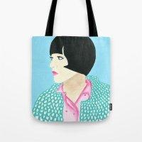 anna Tote Bags featuring Anna by kate gabrielle