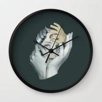cuddle Wall Clocks featuring Cuddle by fabiotir