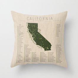 California Parks Throw Pillow