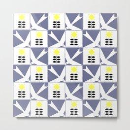 """Koloman (Kolo) Moser """"Textile pattern (Flowers and birds)"""" Metal Print"""