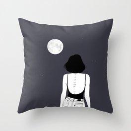 Am a moon like Throw Pillow