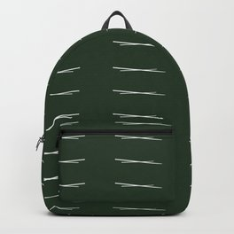 Cross Hatch Repeating - Forest Green Backpack
