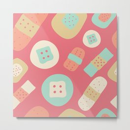 Cute patches pattern Metal Print
