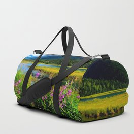 God's Country - Summer in Alaska Duffle Bag