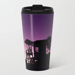 Baywatch tower silhouette sunset Travel Mug