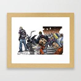 Turf War Framed Art Print