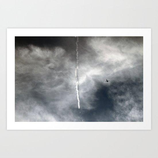 Plane Trails Art Print