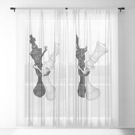 Chess dancers Sheer Curtain