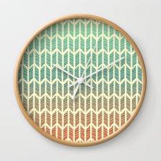 Quill Pattern Wall Clock