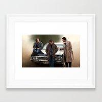 supernatural Framed Art Prints featuring Supernatural by Artechniq