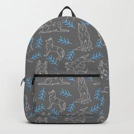 Siberian Husky Pattern Backpack