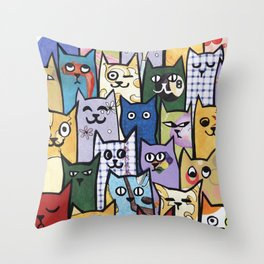 Cats a Lot Throw Pillow