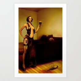 """The bad customer"" Art Print"