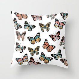 You Give Me Butterflies.. Throw Pillow