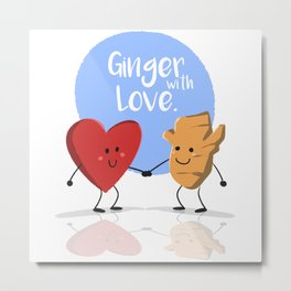 Ginger with Love Metal Print
