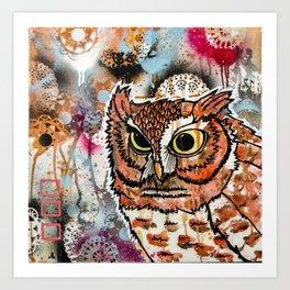 Owl Friend Art Print