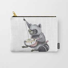 Raccoon Cross Stitching Carry-All Pouch